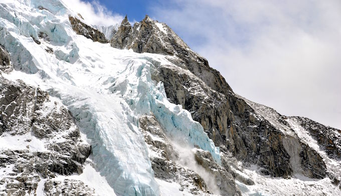 A glacier in the Nepal Himalayas. (Photo by Davide Zanchettin)