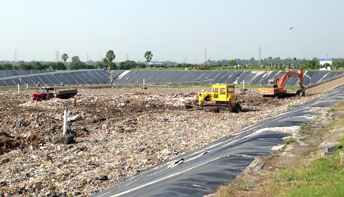 A waste management centre at Baidyabati municipality near Kolkata