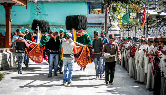 The annual winter festival of the resident deity in Lippa. (Photo by Manshi Asher)