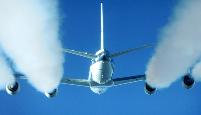 Aviation represents 2% of global emissions but is expected to grow to 3% by 2050. (Photo by NASA)