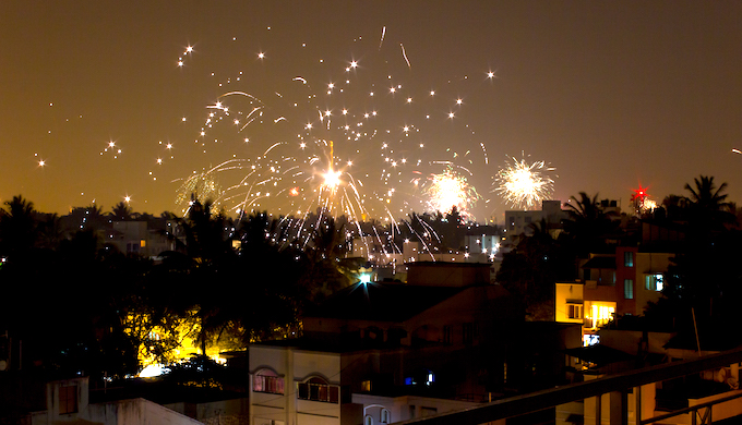 Diwali fireworks add massively to Delhi's air pollution. (Photo by Silver Blue)