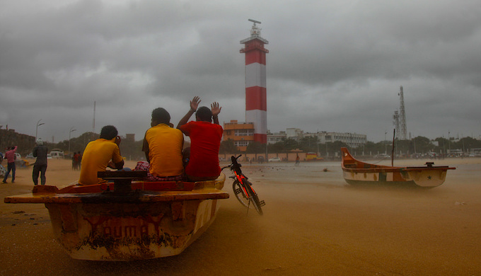 The cyclone Nilam lashed India's east coast in 2012. (Photo by Vinoth Chandar)