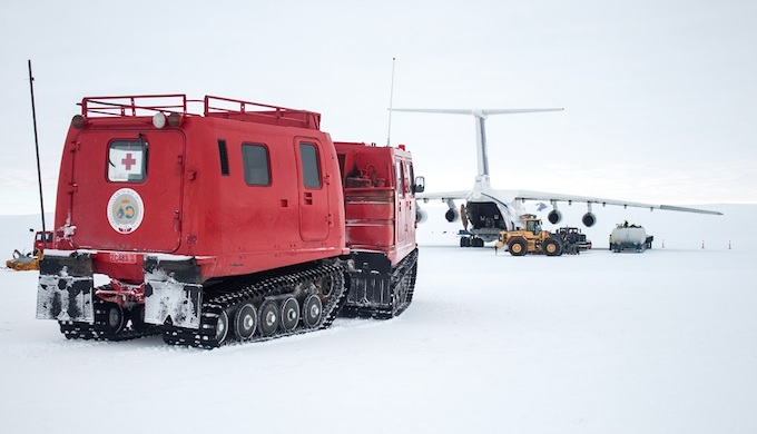 It takes a great deal of logistical effort to make trips to Antarctica. (Photo by Vikram Goel / Norwegian Polar Institute)