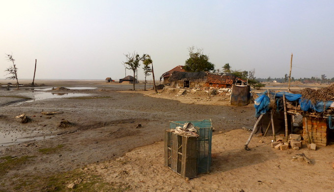 Sagar Island is steadily losing land mass to the sea. (Photo by Soumya Sarkar)
