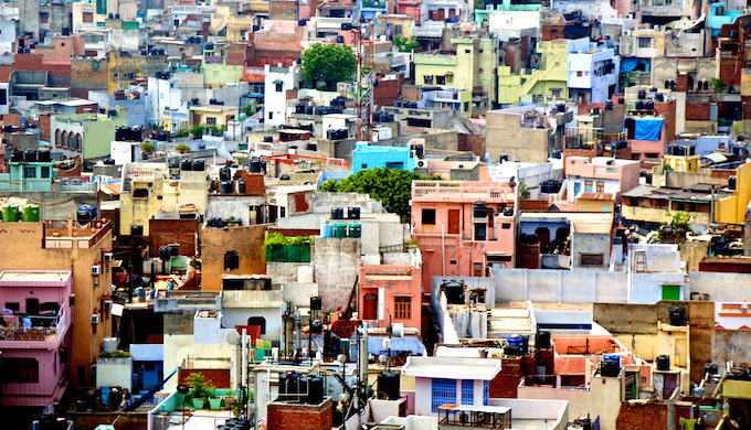 Urban sprawls in India are vulnerable to climate risks. (Photo by José Morcillo Valenciano)