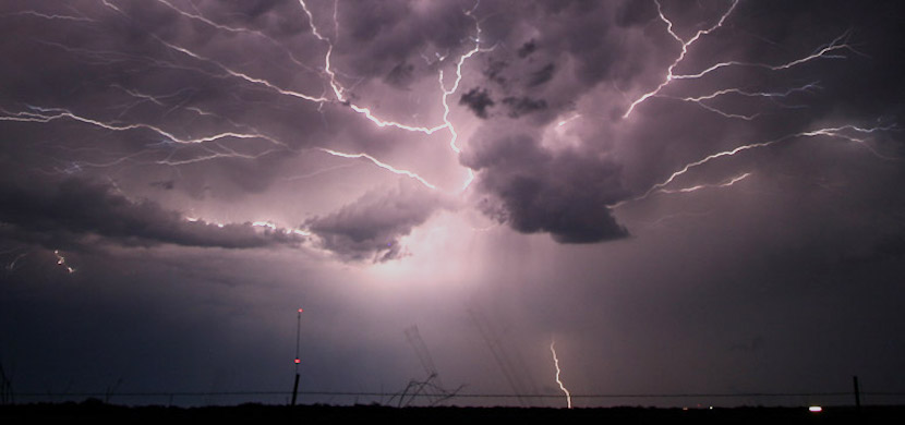 A forked lightning cuts across darkened skies, one of the most beautiful but dangerous phenomenon of nature, getting even more threatening. (Photo by NOAA National Severe Storms Laboratory)