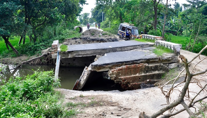 The annual floods in Bihar causes heavy damage to civic infrastructure (Photo by Preeti Singh)