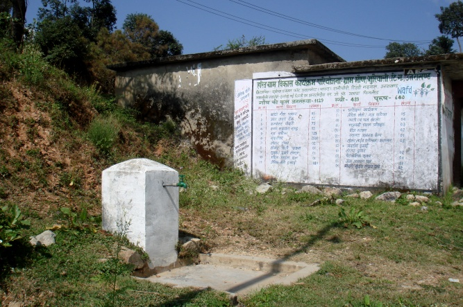 The lone tap that supplies water to the village [image by: Juhi Chaudhary]