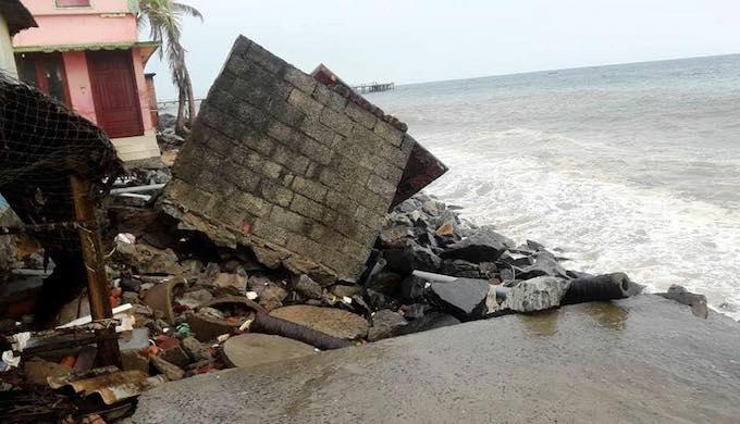 Swell waves damage Kerala coast, seawalls worsen impact