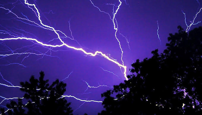 Lightning rapidly discharges electrical energy within a cloud, between clouds, or between a cloud and the ground (Photo by Timothy Kirkpatrick)