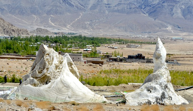 Ice stupas not cutting ice with some farmers in Ladakh