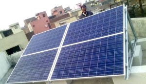 A rooftop solar installation in New Delhi (Photo by URJA)