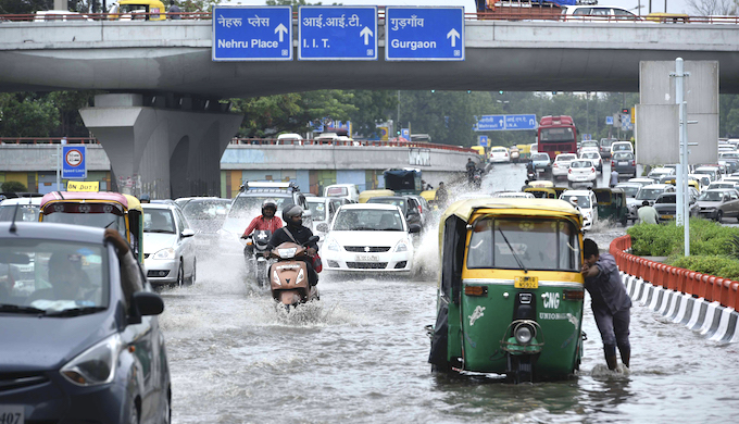 Cities flooded as climate change leads to short bursts of intense rain