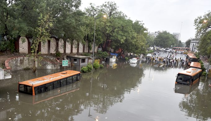 A drizzle and waterlogging, that's monsoon Delhi