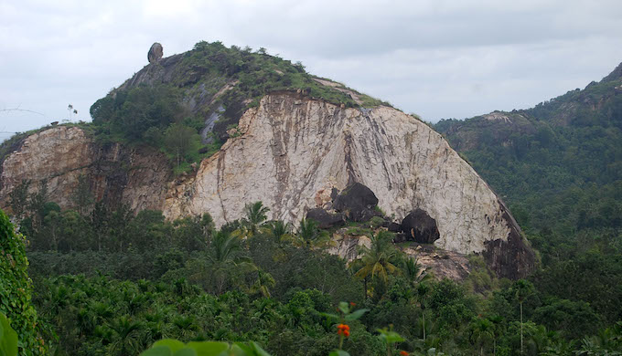 Hills are being mined to bring rocks and large stones to build sea walls. This is causing more landslides in the fragile mountainous regions. During recent floods Kerala has almost one hundred landslides (Photo by A.J. Vijayan)