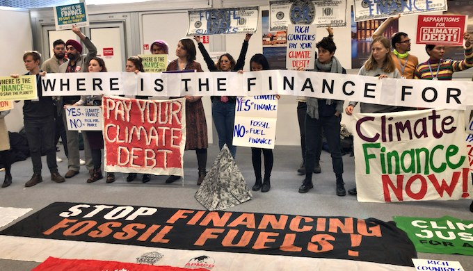 "Developed countries, historically responsible for the majority of emissions, have only promised that the ""probability"" of climate finance will be available, disappointing many (Photo by Joydeep Gupta)"