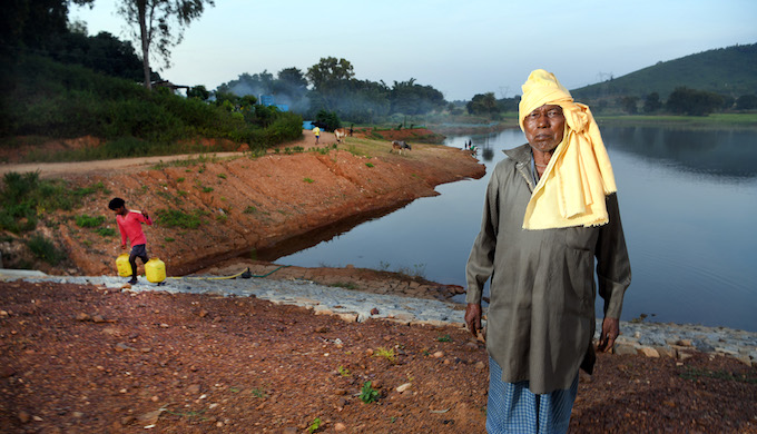 In 1961, Minj started a community-based initiative to fight back against the water crisis with indigenous knowledge. For the residents of this eternal dry land, Minj is pani baba, a living legend. He was the driving force in building this water body that has changed the lives of thousands. It is a picturesque view, a huge manmade lake surrounded by rich soil, trees and lush rice fields