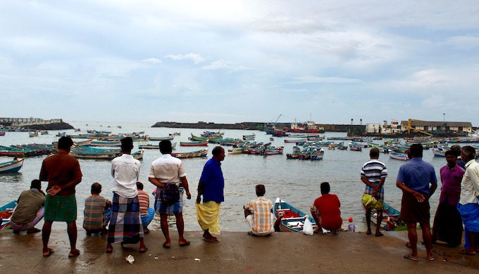 Boats arrive by mid-morning at Vizhinjam fishing harbour, widely used by fishers from nearby villages during the monsoon season, when the sea is too rough to launch and land on local sandy beaches and estuaries. Fishers of Poonthura, 11 km north, dock their boats here and commute daily to fish (Photo by MM Paniyll)