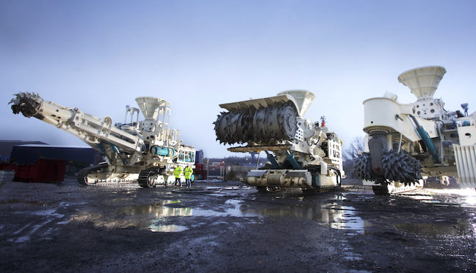 Deep seabed mining machines manufactured by Nautilus Minerals (Photo by Nautilus Minerals)