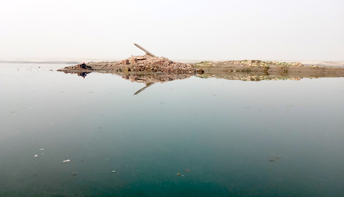 Hundreds of buildings have been lost to erosion in the past few years (Photo by Gurvinder Singh)