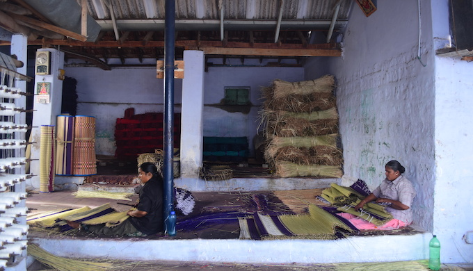 The cottage enterprises weaving mats from the locally found Korai grass are finding it difficult to survive as the growth of the grass has slowed down due to water scarcity (Photo by Anusha Sundar)