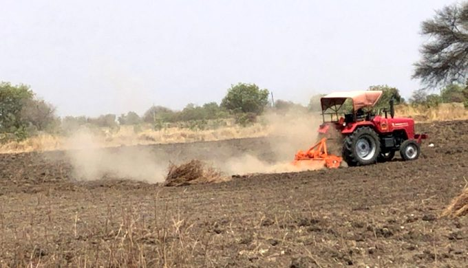 A farmer ploughing his field in the hope of rain in sun-baked Marathwada (Photo by Joydeep Gupta)