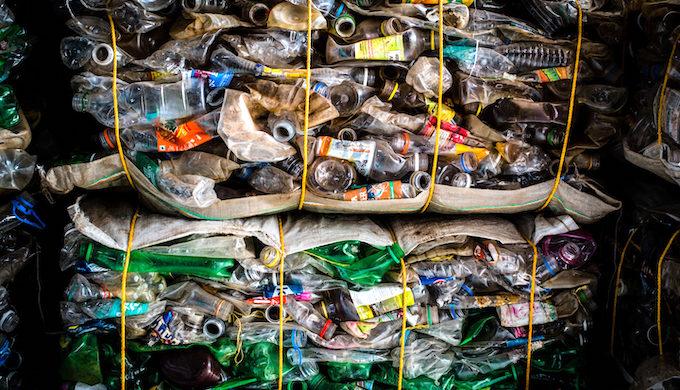 Bales of plastic bottles (Photo by Shailendra Yashwant)