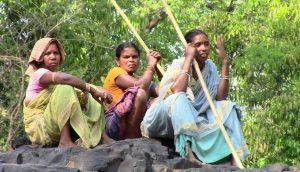 A group of tribal voluntary forest guards in Thengapalli forest in Odisha (Photo by Ranjan K Panda)