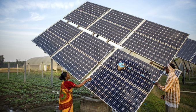 Renewable energy has become a big jobs creator in India (Photo by IWMI)