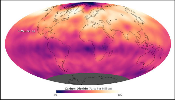 Carbon dioxide touches new global peak