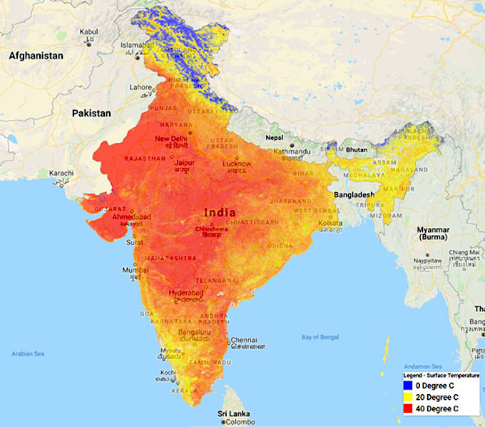 Upto 37% of Indians were exposed to high temperatures (air temperature) of over 40 degrees Celsius for 10 hours or more in a day in 2019, up from 27.42% in 2018, according to satellite data (Image by Raj Bhagat Palanichamy)