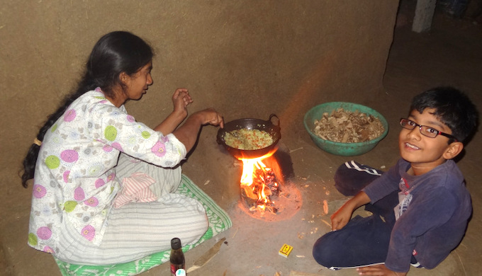 At the family hearth (Photo by Shantanu Mundhada)
