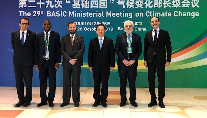 Ministers from the BASIC nations at a meeting held in Beijing (Photo by PIB)