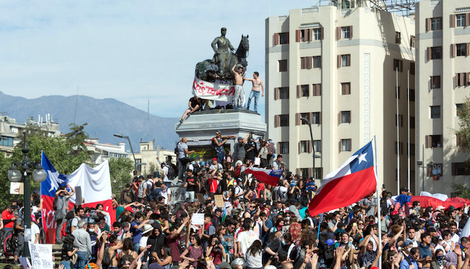 Protests erupt in Chile ahead of global climate summit