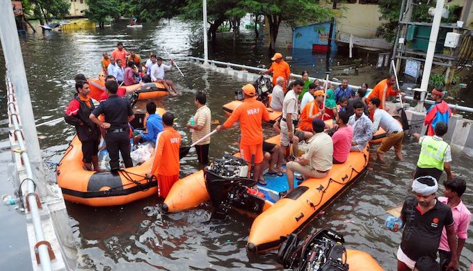 Rescue teams had to evacuate residents in Patna (Photo by Prashant Ravi)