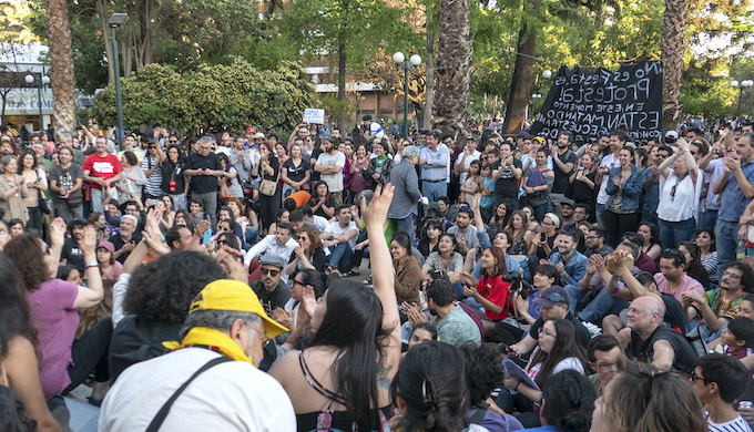 Protests continue to roil Chile's capital Santiago (Photo by Rafael Edwards)