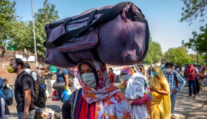 India's abrupt pandemic lockdown led to an exodus of migrat workers from cities (Photo by Alamy)