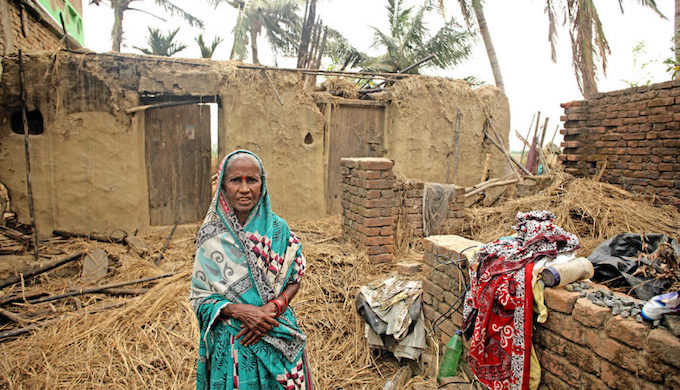 Poor people always bear the brunt of climate disasters in South Asia (Photo by Srikanth Kolari/ActionAid India)