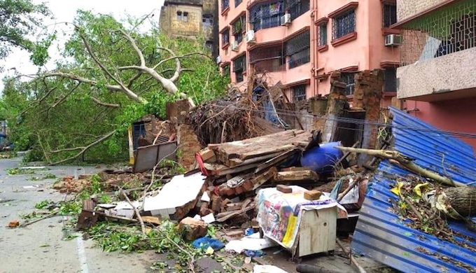 Cyclone Amphan is considered to be the biggest storm to hit Kolkata in living memory (Photo by Mariners' Base Camp)