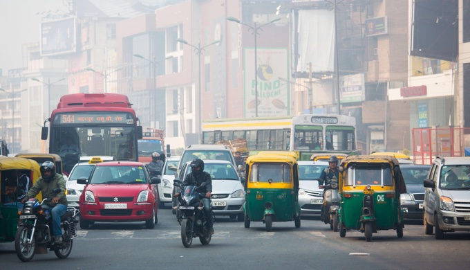 Air pollution is typically high in Indian cities even in summer (Photo by Alamy)