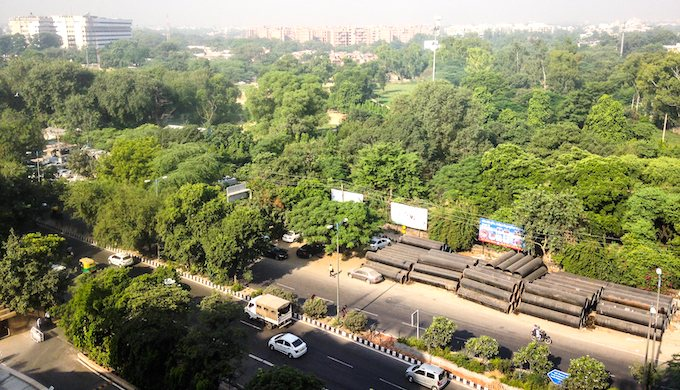 A forested area in New Delhi (Photo by Jon Pinder)