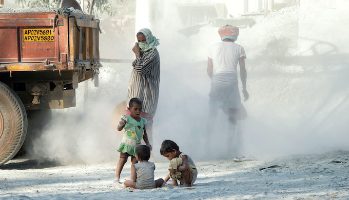 Children in Indian cities are routinely exposed to hazardous levels of air pollution (Tim Gainey/Alamy)