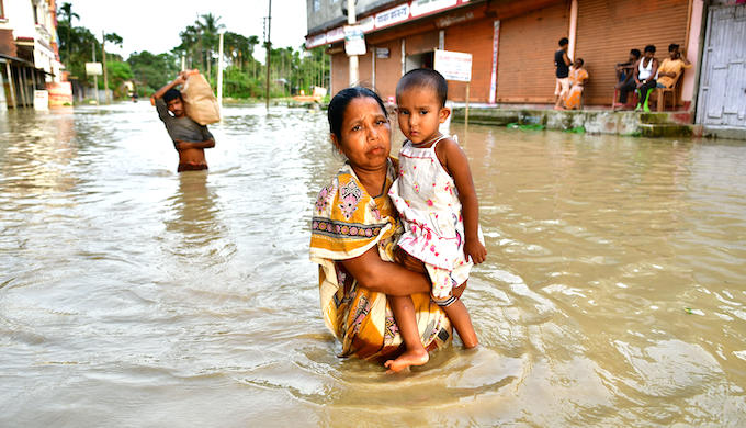Widespread monsoon flooding in India and Bangladesh displaced several million people (Photo by Alamy)
