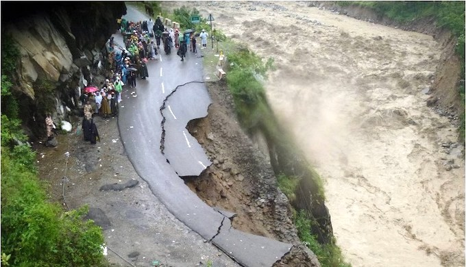 The impact of floods in the western Himalayas is compounded by the hazard of landslides (Photo by AFP/Indian Army)