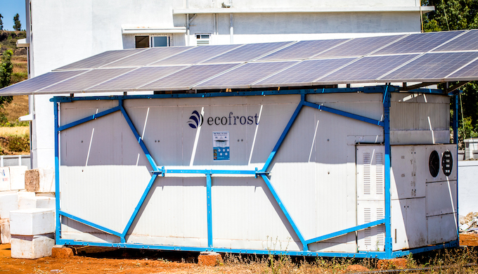 The decentralised cold room powered by solar energy will help Indian farmers to reduce wastage and get better prices for their harvest (Photo by Ecozen)